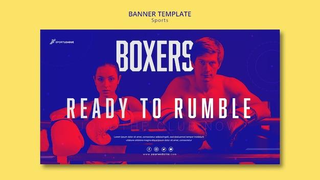 Modelo de banner de atletas boxer