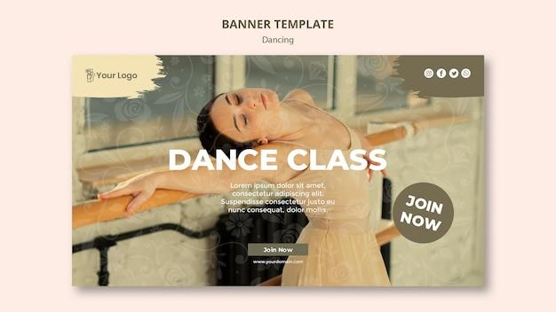 Modelo de banner de aula de dança