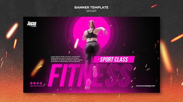 Modelo de banner de aula de fitness