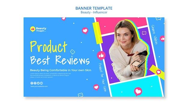 Modelo de banner de avaliações de produtos