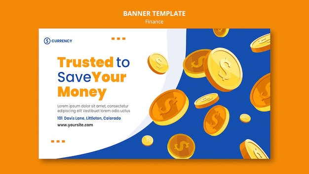 Modelo de banner de banco online