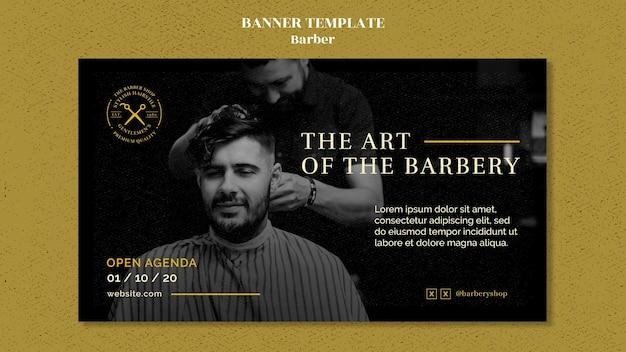Modelo de banner de barbearia