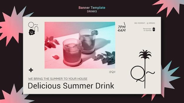 Modelo de banner de bebidas