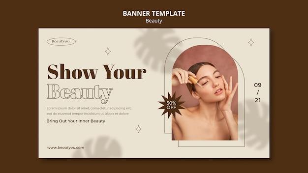 Modelo de banner de beleza natural