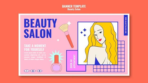 Modelo de banner de beleza pop art