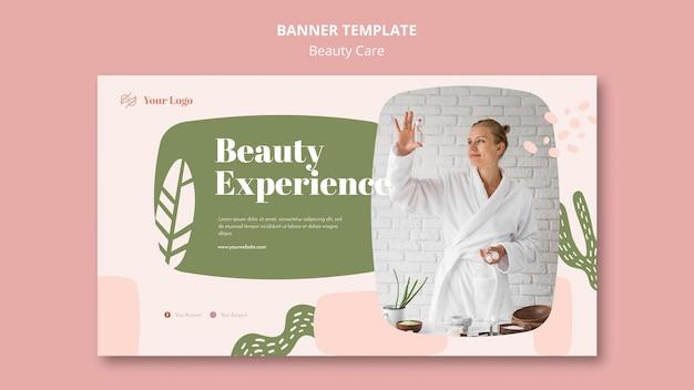 Modelo de banner de beleza