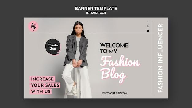 Modelo de banner de blog de moda