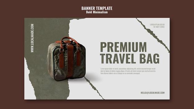 Modelo de banner de bolsa de viagem