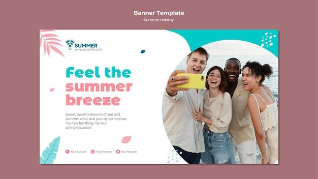 Modelo de banner de brisa de verão