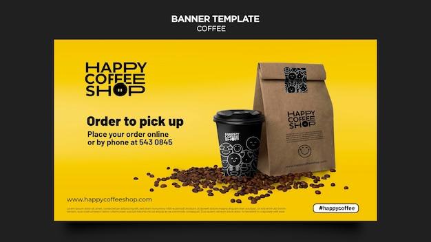 Modelo de banner de café