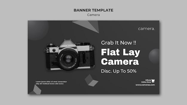 Modelo de banner de câmera