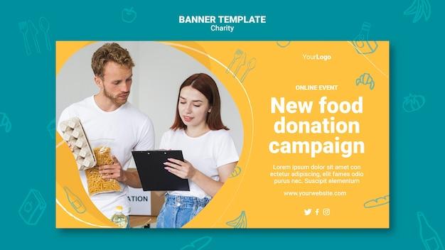 Modelo de banner de campanha de caridade