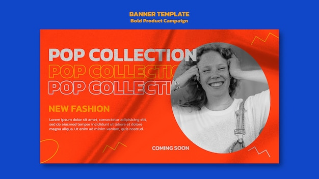 Modelo de banner de campanha de produto