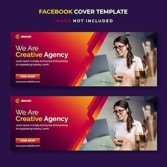 Modelo de banner de capa de facebook de negócios