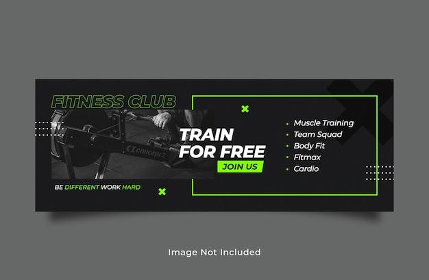 Modelo de banner de capa de fitness