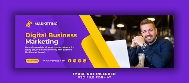 Modelo de banner de capa de marketing digital