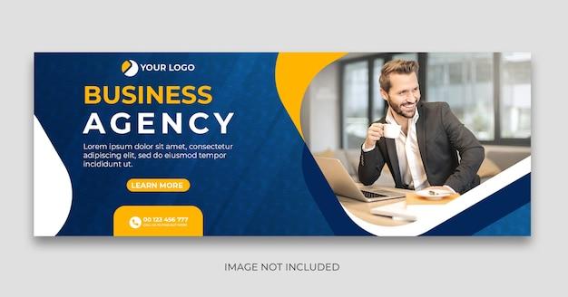 Modelo de banner de capa de mídia social de agência digital