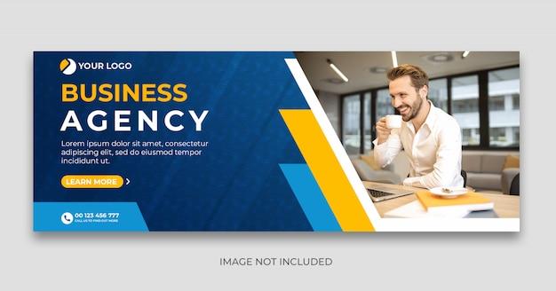 Modelo de banner de capa do cronograma do facebook da agência digital