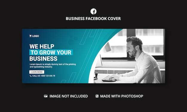 Modelo de banner de capa do facebook de marketing digital