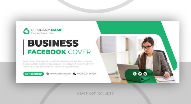 Modelo de banner de capa do facebook para negócios