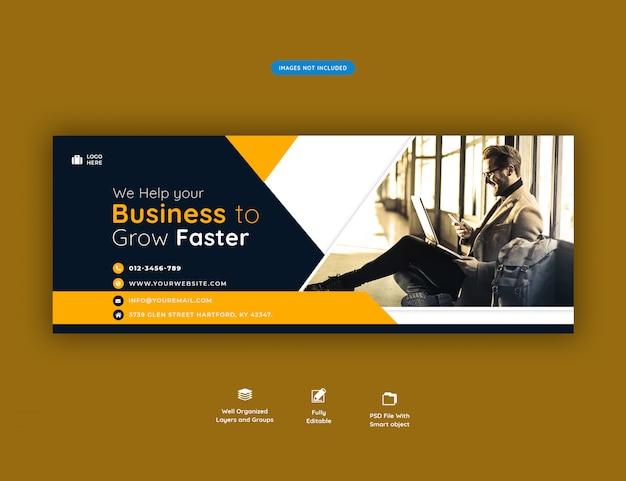Modelo de banner de capa do facebook promoção de negócios corporativos