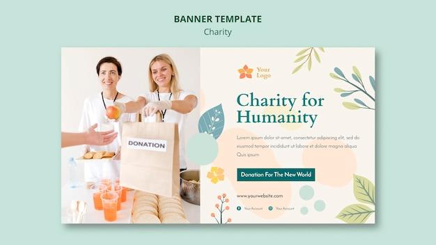 Modelo de banner de caridade