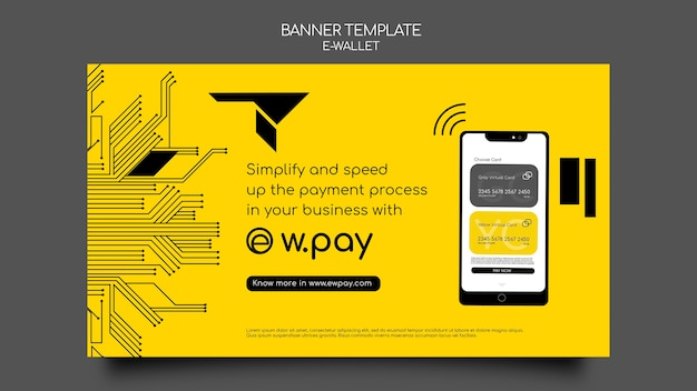 Modelo de banner de carteira eletrônica