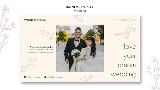 Modelo de banner de casamento