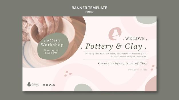Modelo de banner de cerâmica