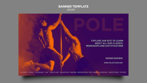 Modelo de banner de classe de pólo