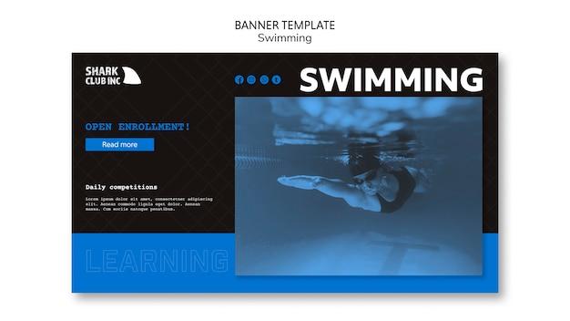 Modelo de banner de clube de piscina