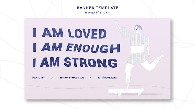 Modelo de banner de comemoração do dia da mulher