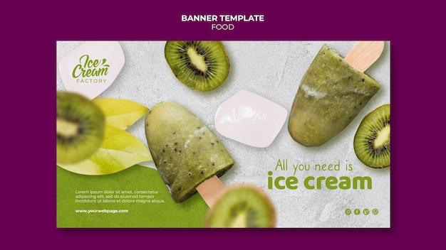 Modelo de banner de comida deliciosa