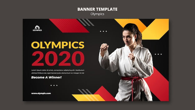 Modelo de banner de competição de esportes 2020