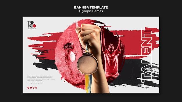 Modelo de banner de competição esportiva internacional
