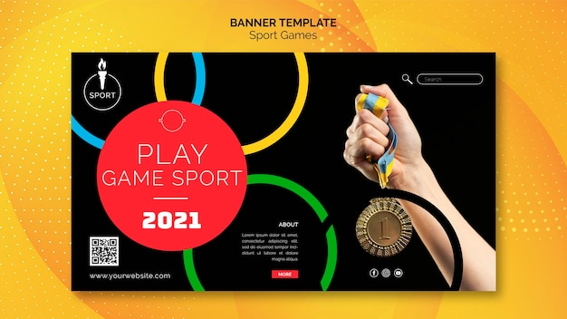 Modelo de banner de competição esportiva