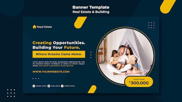 Modelo de banner de compra de propriedade