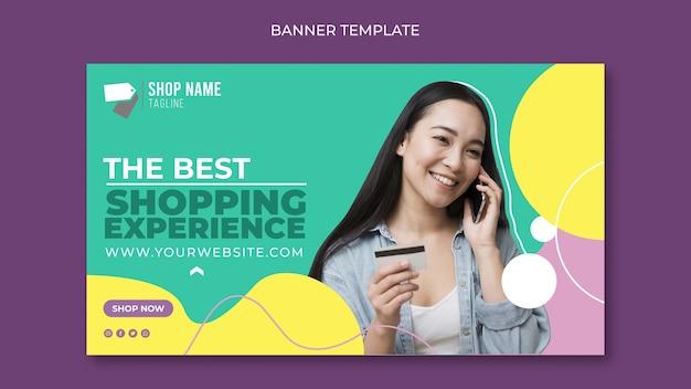 Modelo de banner de compras online