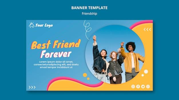 Modelo de banner de conceito de amizade