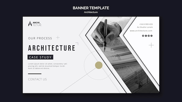 Modelo de banner de conceito de arquitetura
