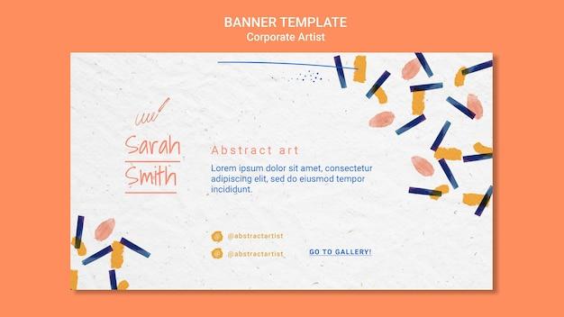 Modelo de banner de conceito de artista corporativo