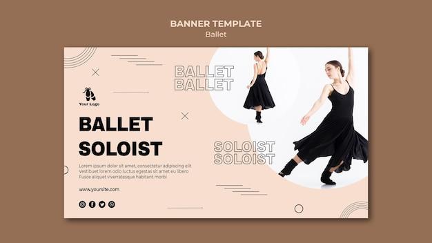 Modelo de banner de conceito de balé