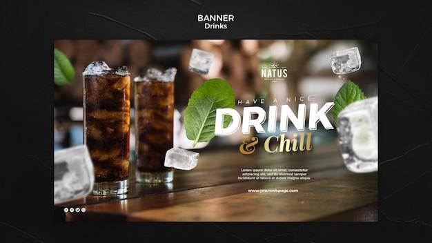 Modelo de banner de conceito de bebidas