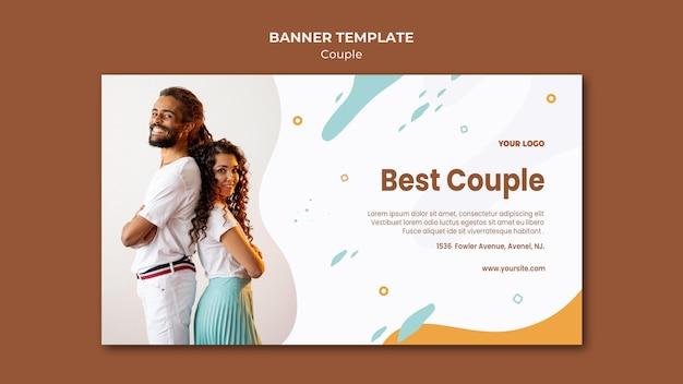 Modelo de banner de conceito de casal