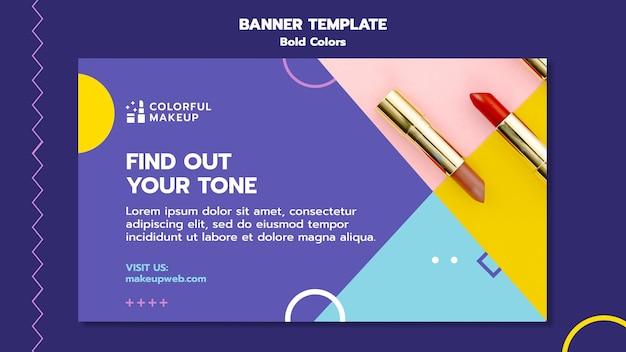 Modelo de banner de conceito de cores em negrito