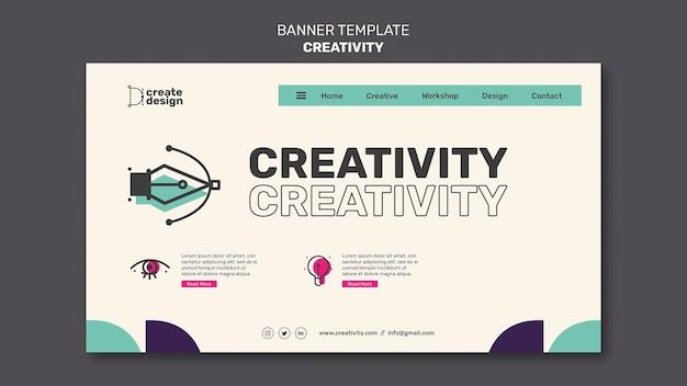 Modelo de banner de conceito de criatividade
