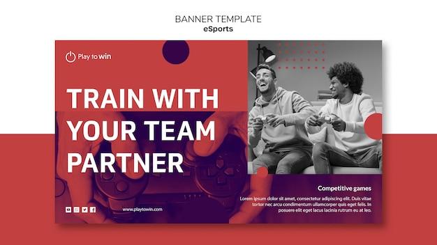 Modelo de banner de conceito de e-sports