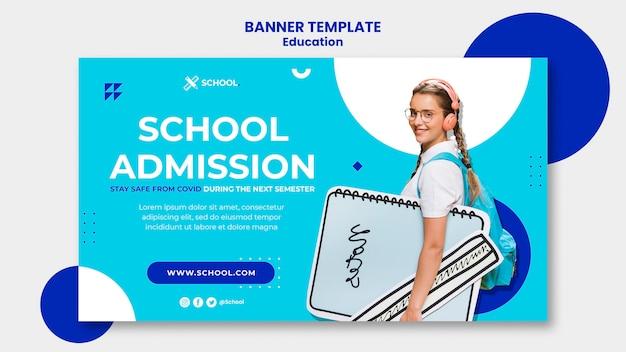 Modelo de banner de conceito de educação