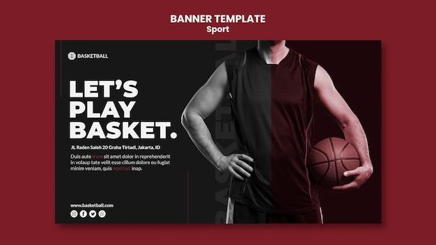 Modelo de banner de conceito de esporte