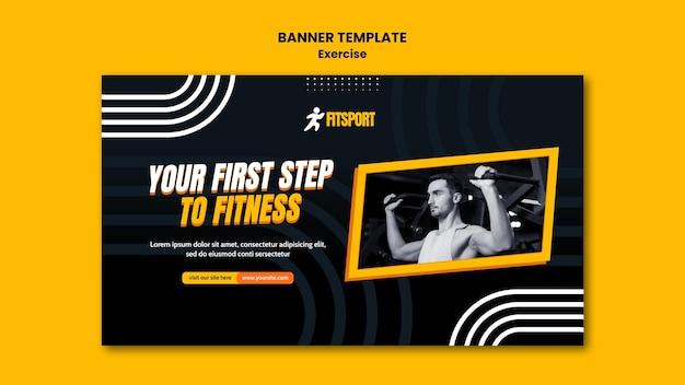 Modelo de banner de conceito de fitness